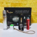 Spesifikasi Senter Power Style Bahan Stainless Asli Silver Terbaru