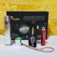 Promo Senter Power Style Bahan Stainless Asli Silver Senter Power Style