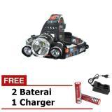 Jual Cepat Senter Swat Kepala Free Charger Baterai