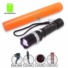 Senter Swat Power Style Cree LED 5000 Lumens Rechargeable Light Energy Saving WaterProof - Hitam