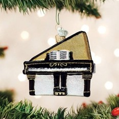 [Seoul Boran] Old World Christmas Glass Blown Baby Grand Piano Ornamen-Internasional
