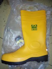 Sepatu Safety Pvc Boot LEGION - Sepatu Proyek Bahan Karet Warna Kuning Dengan Pengaman Besi