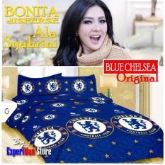 Seprai Bonita Ala Syahrini Original Tipe BLUE CHELSEA 180 x 200 - 1Sprai - 2bantal - 2guling