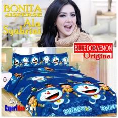 Seprai Bonita Ala Syahrini Original Tipe BLUE DORAEMON 180 x 200 - 1Sprai - 2bantal - 2guling