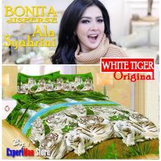 Seprai Bonita Ala Syahrini Original Tipe NEW WHITE TIGER 180 x 200 - 1Sprai - 2bantal - 2guling