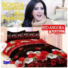 Seprai Bonita Ala Syahrini Original Tipe REDWINE 180 x 200 - 1Sprai - 2bantal - 2guling