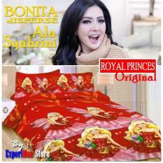 Seprai Bonita Ala Syahrini Original Tipe ROYAL PRINCES 180 x 200 - 1Sprai - 2bantal - 2guling