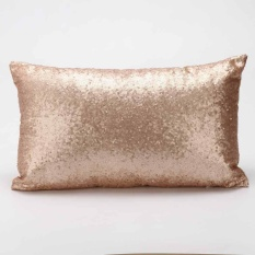 Katalog Sequins Sofa Bed Rumah Dekorasi Festival Bantal Case Cushion Cover Gold Intl Terbaru