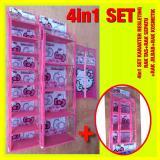 Toko Set 4In1 Resleting Karakter Rak Tas Rak Sepatu Rak Jilbab Rak Kosmetik Hk Pink Terdekat
