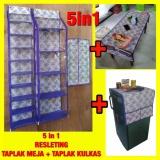 Jual Beli Set 5In1 Rak Tas Rak Sepatu Rak Jilbab Taplak Meja Taplak Kulkas Resleting Z0146A Baru Jawa Timur