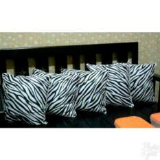 Bantal Kursi 40x40 - Bantal Sofa  [zebra] silicone Fiber