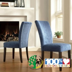 Set Kursi Makan Sofa Modern Biru Set 4