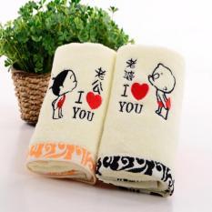 Beli Set 2 Magic Handuk Mandi Katun Pasangan Kreatif Towel 100 Katun Intl Terbaru