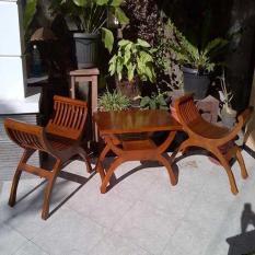 set teras yuyu jati 2 kursi 1 meja/ kursi teras yuyu cantik/ set teras minimalis/ kursi teras minimalis
