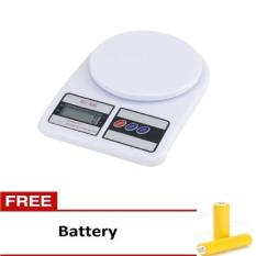 Diskon Sf 400 Timbangan Digital Dapur 10 Kg Bundling Battery North Sumatra