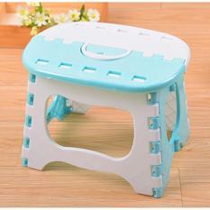 Sgm Foldable Chair Polos Kursi Plastik Lipat Mini Anak (Biru)
