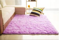 Beli Shaggy Anti Selip Karpet Karpet Lantai Tikar Cover 80X120Cm Ungu Intl Online Murah