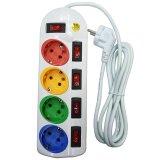 Jual Shinyoku Syk 285C Stop Kontak 4 Lubang 4 Switch Putih Online