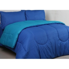 Sierra - Bedcover dan Sprei - Polos Dark Blue x Tosca