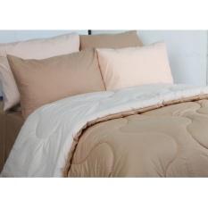 Sierra - Bedcover dan Sprei - Polos Mocca x Cream
