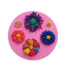Silicone 3D Bunga Kue Cokelat Cetakan Pemodelan Alat Dekorasi-Intl