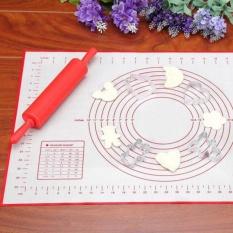 Silicone Fiberglass Loyang Rolling Adonan Pastry Kue Bakeware Liner Pad Mat Oven Pasta Alat Memasak 60*40 CMG Baki Sheet Peralatan Dapur-Intl