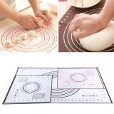 Jual Silicone Fiberglass Rolling Adonan Pad Pastry Baking Mats W Pengukuran Merah 26 29 Cm Baru