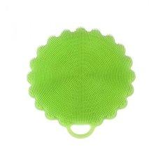 Silicone Multipurpose Cleaning Sponge untuk Dapur dan Kamar Mandi dari Kitchencomplete, Menggunakan Sertakan Coasters, Sarung Tangan Oven, Mudah Dibersihkan, Teknologi Baru Cairan Pembersih Tersedia Sekarang! (Hijau)-Intl