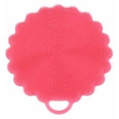 Silicone Multipurpose Cleaning Sponge untuk Dapur dan Kamar Mandi dari Kitchencomplete, Menggunakan Sertakan Coasters, Sarung Tangan Oven, Mudah Dibersihkan, Teknologi Baru Cairan Pembersih Tersedia Sekarang! (Pink)-Intl