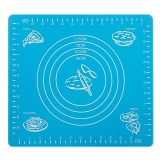 Review Pada Silicone Nonstick Cake Fondant Dough Rolling Mat Pastry Bake Baking Mat With Measurement Scale Bakeware Cooking Tools Blue Intl