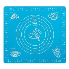 Harga Silicone Nonstick Cake Fondant Dough Rolling Mat Pastry Bake Baking Mat With Measurement Scale Bakeware Cooking Tools Blue Intl Fullset Murah
