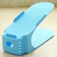 Harga Sederhana Double Layer Stereo Sepatu Penyimpanan Hanger Warna Biru Intl Yang Murah