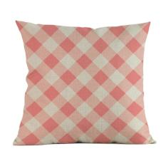 Sederhana Suka Melukis Linen Sarung Bantal Sofa Sarung Bantal Kursi Rumah Dekorasi E-Intl