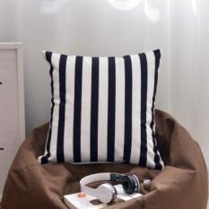 Sederhana Sekarang Nordic Hitam dan Putih dengan Nada Sederhana Plaid Bantal Cover Fashion Sofa Cushion Car Back Lumbar Pillow- INTL
