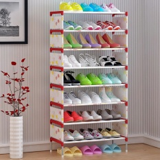 Rak Sepatu Sederhana Fashion Multilayer Perakitan Ekonomi Rumah Kamar Asrama Di Balik Pintu Nonwoven Besi Incorporated Sepatu Rak-Internasional