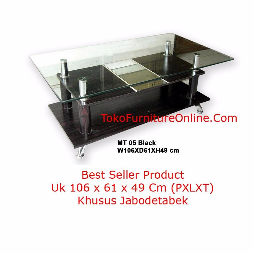 Shock Price Simplefurniture Meja Tamu - Sofa - Kopi Coffee Table MT05 Black best price -