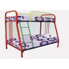Simplefurniture Tempat Tidur/Ranjang Susun Besi Tingkat Uk Kasur 120 x 200 & 90 x 200 HANYA JADETABEK BB 105