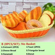 Simulasi Model Kue Roti Makanan Props Lemari Menghias Bakery Sampel TK Play House Mainan Holiday Hadiah-Intl