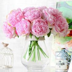 Promo Simulation 5 Heads Peony Bouquet Artificial Flowers Wedding Home Decor Intl Aukey