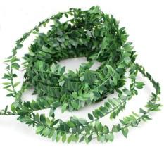 Simulasi Rotan Fake Tanaman Wreath Fashion 7.5 M Hijau Dekorasi Rumah Perayaan-Intl