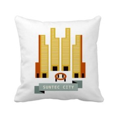 Singapore Suntec City Landmark Square Throw Pillow Insert Cushion Cover Home Sofa Decor Gift - intl