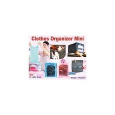 Single Clothes Organizer Mini Bahan Ripstock Box Pakaian 1 Sekat Multi Diskon 30