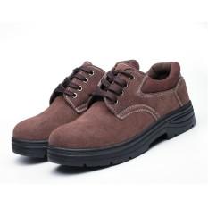 (UKURAN: 46) Sepatu Keselamatan Unisex Situs Pengelasan Anti Smashing Anti-STAB Debu Bekerja Sepatu Safety Protective Steel Toe Steel Plate untuk Membantu Tenaga Kerja