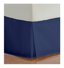 Sky Homes Hotel Quality 700-Thread-Count Egyptian Cotton King Size One Piece Split Corner Bed Skirt 41cm Drop Length Navy Blue Solid - intl