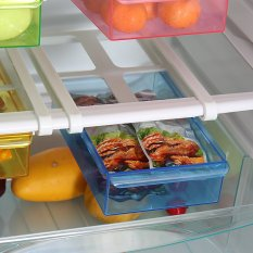Meluncur Ke Dapur Kulkas Freezer Ruang Saver Storage Rack Rak Holder 4 Warna-Intl