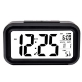 Harga Smart Digital Lcd Led Alarm Clock Temperature Calendar Auto Night Sensor Clock Black Fullset Murah