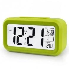 Beli Smart Digital Lcd Led Alarm Clock Temperature Calendar Auto Night Sensor Clock Green Aiueo Asli