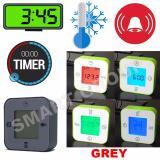 Harga Smart Jam Termometer Pengatur Waktu Alarm Grey Paling Murah