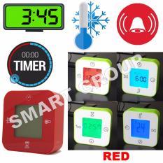 Harga Smart Jam Termometer Pengatur Waktu Alarm Merah Asli Smart