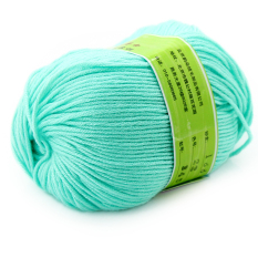 Smooth Worsted Super Soft Natural Silk Wool Fiber Baby Yarn Skein Lot 50g Color Green